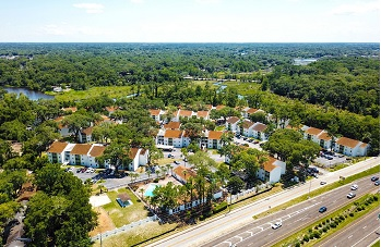 drone view of RED BAY multifamily property in Jacksonville