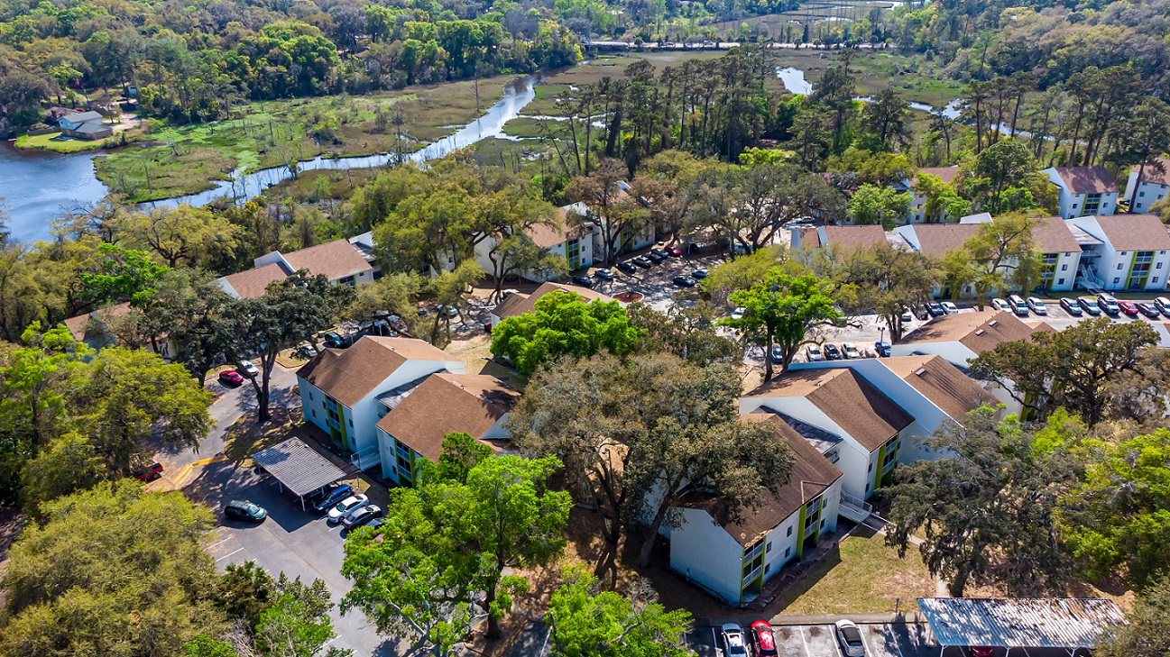 red bay apartments jacksonville rent studio pet friendly - drone view