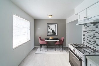 University Club apartments- kitchen and dining area