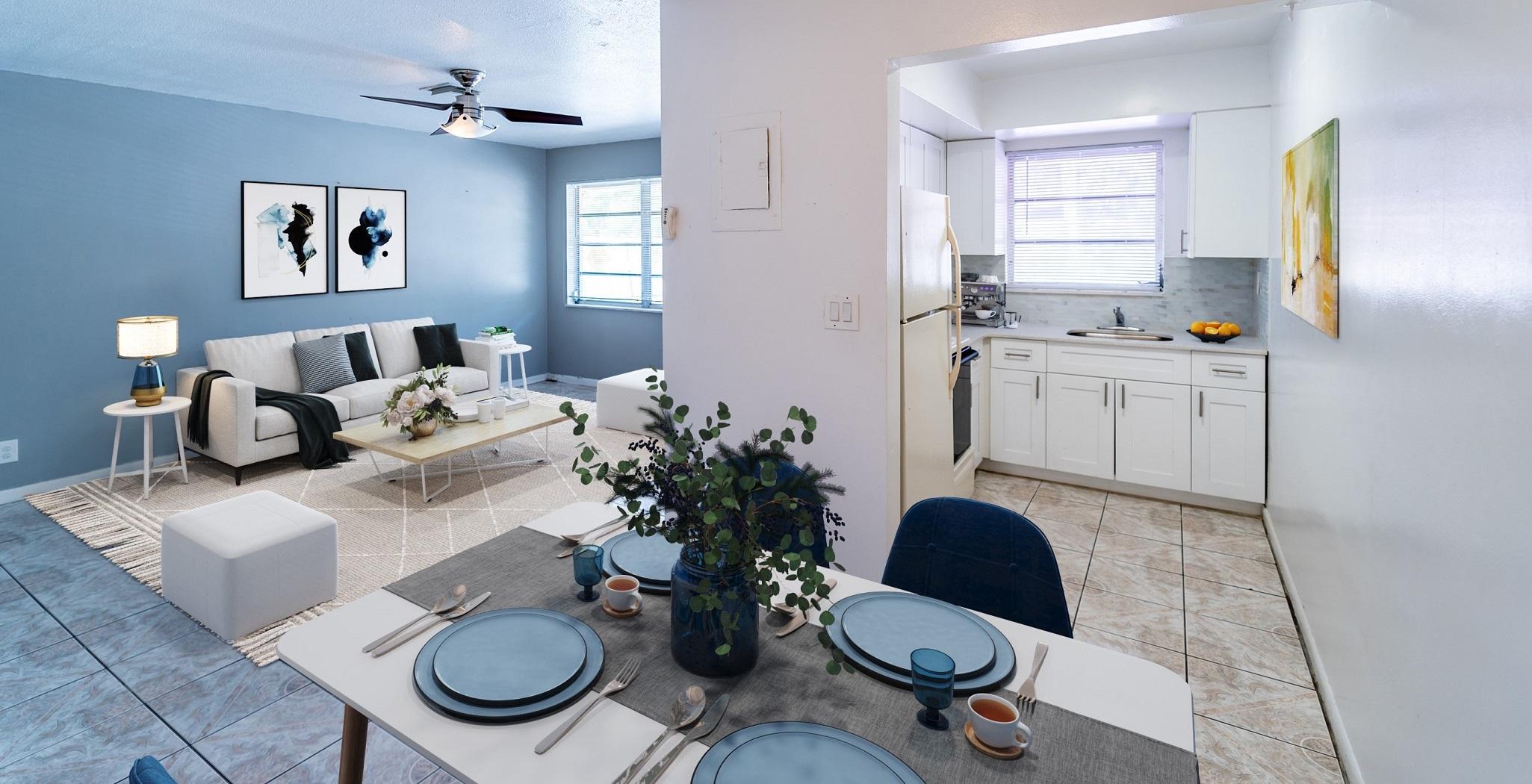 golden palms living room - fort luaderdale real estate